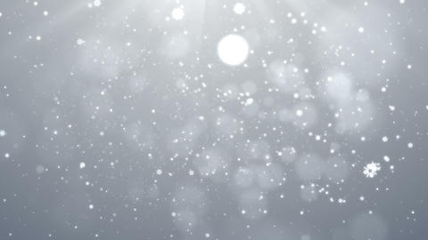 White Christmas Snowflakes Falling Background, looped Animation