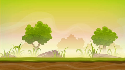 Seamless Forest Landscape Animation For Ui Game Animation