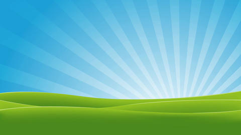 Green And Blue Landscape Animation Stock Video Footage