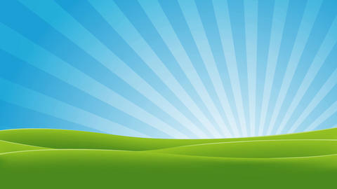 Green And Blue Landscape Animation Animation
