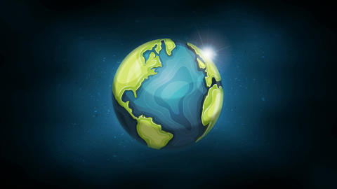 Earth Planet Background Animation Animation
