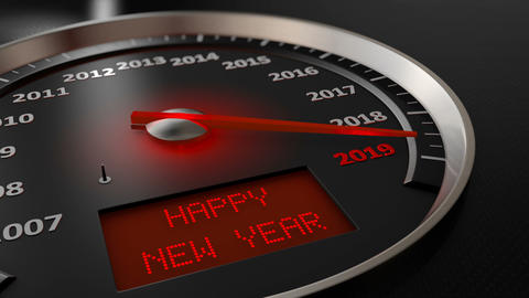 Speedometer Happy New Year Animation