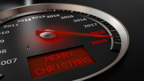 Speedometer Merry Christmas Animation