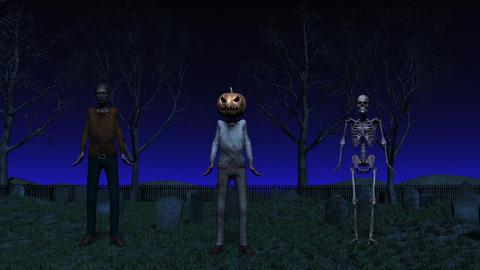 Halloween Cemetery Dance Animation Stock Video Footage