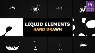 Hand Drawn Liquid Elements And Transitions Motion Graphics Template