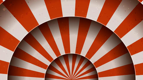 Vintage Abstract Circus Background Rotation Animation