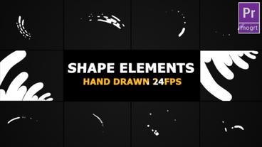 Hand Drawn Shape Elements And Transitions Motion Graphics Template