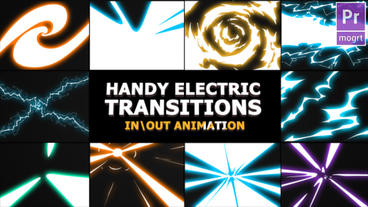 Handy Electric Transitions Motion Graphics Template