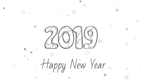 Happy New Year 2019 Animation