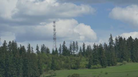 GSM Antenna on Mountain Footage