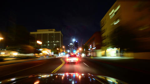 Driving Hyperlapse 02 Los Angeles Night Cityscape 2014 Live Action