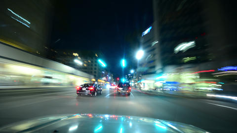 Driving Hyperlapse 15 Los Angeles Night Cityscape 2014 Live Action