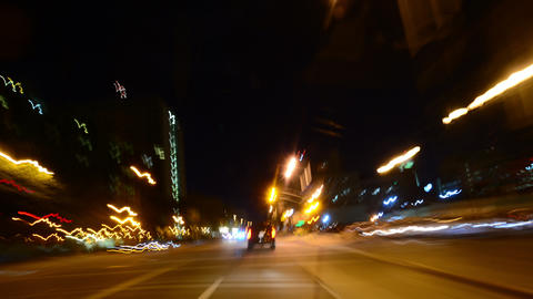 Driving Hyperlapse 33 POV Los Angeles Night Cityscape 2014 Footage