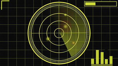 Science fiction simple radar design element HUD After Effects Template