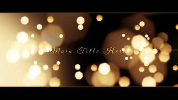 Golden Memories After Effects Template