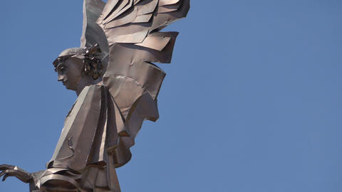 Modern Copper Angel Statue Live Action