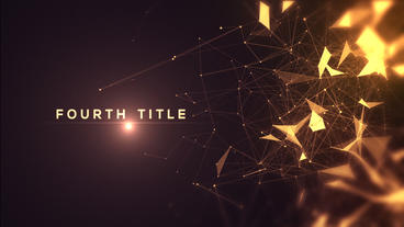 Golden Abstract Titles After Effects Project
