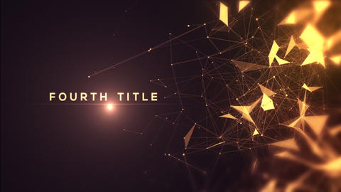 Golden Abstract Titles After Effects Template