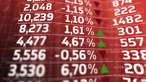 Stock market trading screen Animation