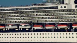 Halifax Nova Scotia New Scotland Canada 011 Passenger Liner Very Close stock footage
