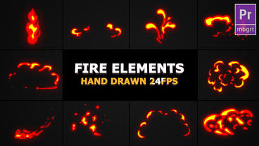 Flash FX Flame Elements Motion Graphics Template