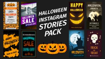 Halloween Instagram Stories After Effects Template