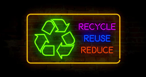 Recycle reuse reduce Stock Video Footage
