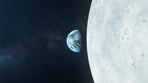 Earth Moon Solar System Exploration 02 4K CG動画素材
