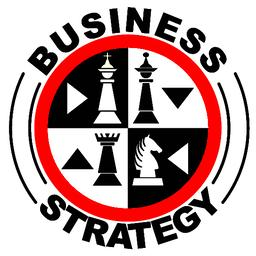 Business strategy banner in with chess pieces in red circle ベクター