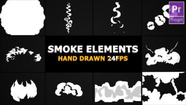Smoke Elements and Transitions Motion Graphics Template