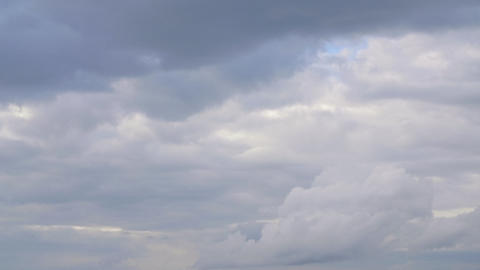 Overcast sky with gray cloud floating in gloomy heaven. Cloudy sky before storm Live Action
