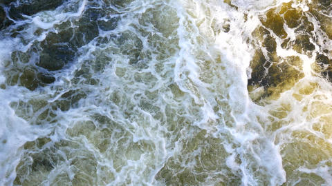 Turbulent streams of water in the sea or river. The power... Stock Video Footage
