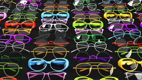 Colorful glasses CG動画素材