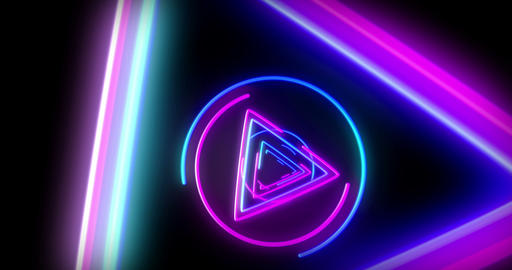 Neon background 3D fly animation Animación