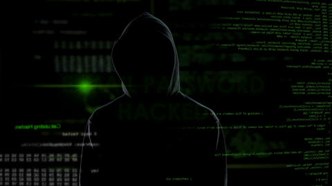 E-mail password hacked, criminal in black gets unauthorized access to data Live Action