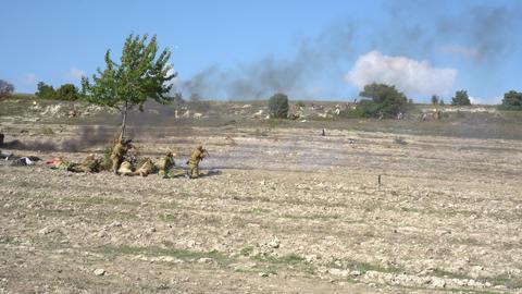 Armed Groups Against Muslim Opposition Rebels Footage