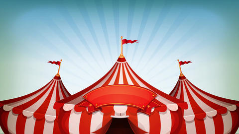 Big Top Circus Background Loop Animation