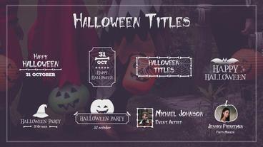 Halloween Titles Plantilla de After Effects