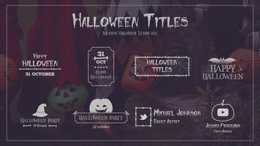 Halloween Titles モーショングラフィックステンプレート