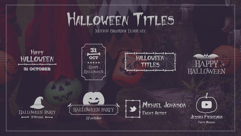 Halloween Titles Motion Graphics Template