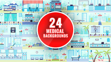 Healthcare Backgrounds - Medical Kit After Effects Template