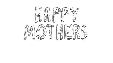 Happy Mothers Day Animated Doodle Animation