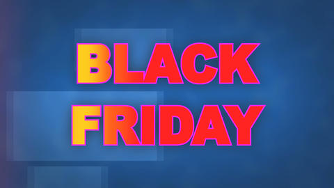 Black Friday written animated ideal for the sales period, ideal for e-commerce Live Action