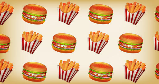 Fast food 2d Motion Graphics Background Animation