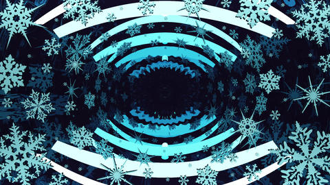 Mirror abstraction with snowflakes CG動画素材