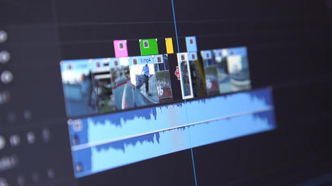 Video Editing Timeline Stock Video Footage