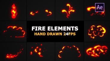 Flash FX Flame Elements After Effects Template