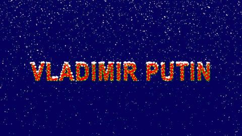 New Year text Person of the World Politics VLADIMIR PUTIN. Snow falls. Christmas Animation