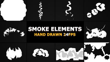 Smoke Elements and Transitions Pack After Effects Template
