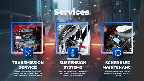 Auto Service: Vehicle Repair Workshop After Effects Template